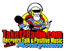 image of Take 12 Radio and the Monty Man logo